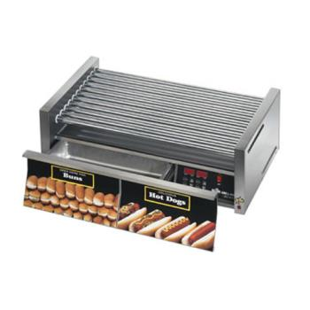 STA75CBDE - Star - 75CBDE - Grill-Max® Electronic 75 Hot Dog Roller Grill w/ Bun Drawer Product Image