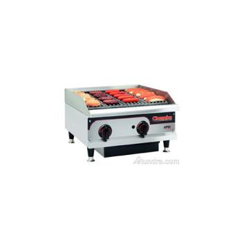 95217 - APW Wyott - GCRB36H - Champion Series 36 in Lava Rock Countertop Charbroiler Product Image