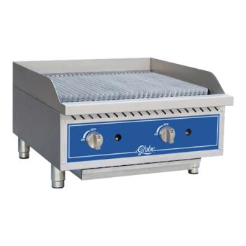 GLOGCB24GRK - Globe - GCB24G-RK - 24 in Char Rock Gas Charbroiler Product Image