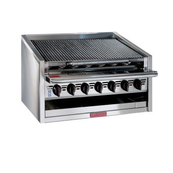 MAGAPMRMB648CR - MagiKitch'n - APM-RMB-648CR - 48 in Gas Charbroiler w/ Cast Iron Radiants Product Image