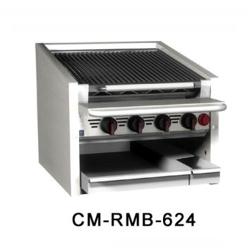 "MAGCMRMB660CR - MagiKitch'n - CM-RMB-660CR - 60"" Countertop Gas Charboiler w/ Cast Iron Radiants Product Image"