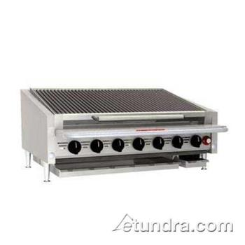 "MAGAPLRMB648CR - MagiKitch'n - APL-RMB-648-CR - 48"" Low Profile Gas Charbroiler w/ Cast Iron Radiants & Legs Product Image"