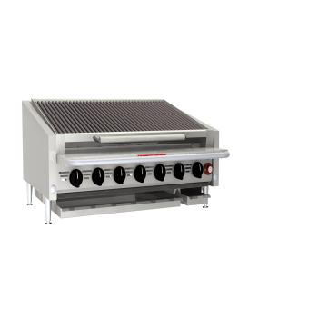 MAGAPLRMB672 - MagiKitch'n - APL-RMB-672 - 72 in Gas Charbroiler w/ S/S Radiants & Legs Product Image