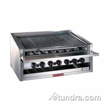 "MAGAPMRMB624CR - MagiKitch'n - APM-RMB-624-CR - 24"" Low Profile Gas Charbroiler w/ Cast Iron Radiants Product Image"