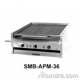 "MAGAPMSMB648 - MagiKitch'n - APM-SMB-648 - 48"" Low Profile Gas Charbroiler w/ Ceramic Briquettes Product Image"