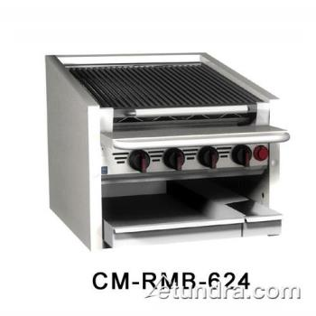 "MAGCMRMB624CR - MagiKitch'n - CM-RMB-624-CR - 24"" Countertop Gas Charboiler w/ Cast Iron Radiants Product Image"