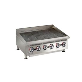 STA8060CB - Star Manufacturing - 8060CBA - Ultra-Max® 60 in Lava Rock Gas Charbroiler Product Image