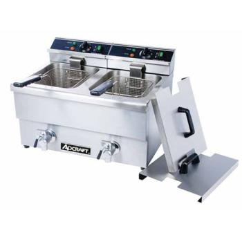 ADMDF12L2 - Adcraft - DF-12L/2 - Double Tank Countertop Fryer w/ Drain Product Image