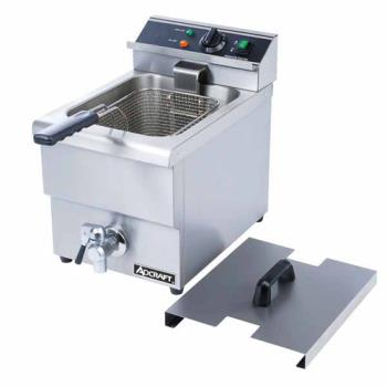 95335 - Adcraft - DF-12L - Single Tank Countertop Fryer w/ Drain Product Image