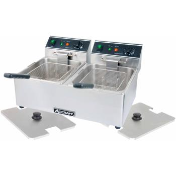 ADMDF6L2 - Adcraft - DF-6L/2 - Double Tank Countertop Fryer Product Image