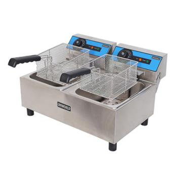 UNWUEF102 - Uniworld - UEF-102 - Economy 10L Double Countertop Fryer Product Image