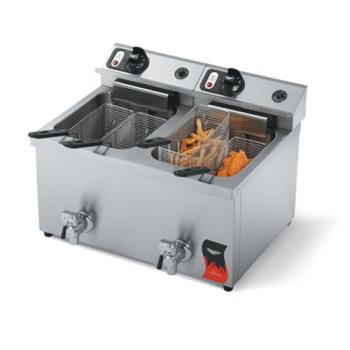 VOL40710 - Vollrath - 40710 - Cayenne® Dual Countertop Fryer w/Drain Product Image