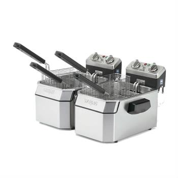 WARWDF1000D - Waring - WDF1000D - Twin Well 10 lb Countertop Fryer Product Image