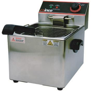 99273 - Winco - EFS-16 - Single Well 16 lb Electric Fryer Product Image