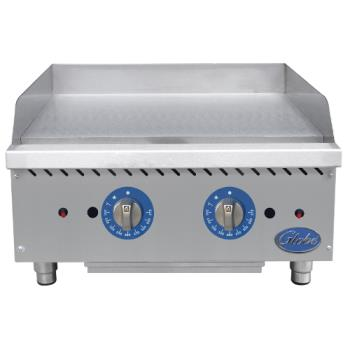 GLOGG24TG - Globe - GG24TG - 24 in Thermostatic Controlled Natural Gas Countertop Griddle Product Image