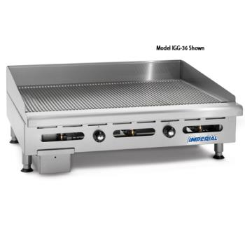 "IMPIGG48OB2 - Imperial - IGG-48-OB-2 - 48"" Grooved Gas Griddle w/ 2 Open Burners Product Image"
