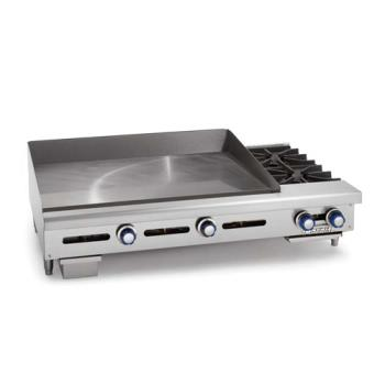 IMPITG24OB2 - Imperial - ITG-24-OB-2 - 24 in Thermostatically Controlled Gas Griddle w/ 12 in Open Burners Product Image