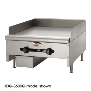 "WELHDG2430G - Wells - HDG-2430G - 24"" Manual Gas Griddle Product Image"
