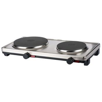 CDODKRS2 - Cadco - DKR-S2 - 120V Stainless Steel Double Cast Iron Range Product Image