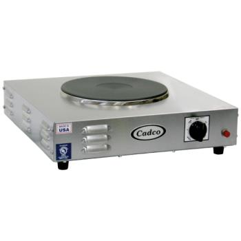 CDOLKR220 - Cadco - LKR-220 - Heavy Duty 220V Single Cast Iron Hot Plate Product Image