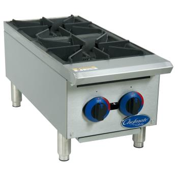 GLOC12HT - Globe - C12HT - 12 in Chefmate™ Gas Hot Plate Product Image