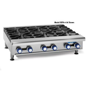 "IMPIHPA636 - Imperial - IHPA-6-36 - 36"" Hot Plate w/ 6 Burners Product Image"