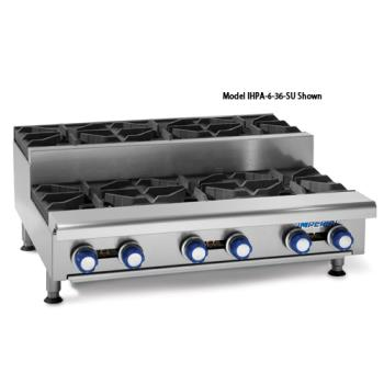 "IMPIHPA636SU - Imperial - IHPA-6-36SU - 36"" Step-up Hot Plate w/ 6 Burners Product Image"