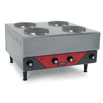 NEM63112240 - Nemco - 6311-2-240 - 240V Four Burner Hot Plate Product Image