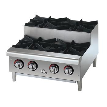 STA604HFSU - Star - 604HF-SU - Star-Max® 4 Burner Step-Up Gas Hot Plate Product Image