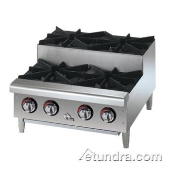 STA606HFSU - Star - 606HF-SU - Star-Max® 6 Burner Step-Up Gas Hot Plate Product Image