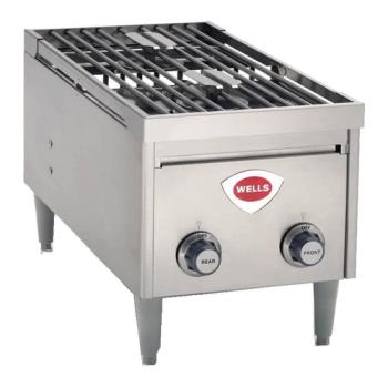"WELH2412GINSTANTON - Wells - H-2412GINSTANTON - 24"" Instant-On Gas Hot Plate Product Image"