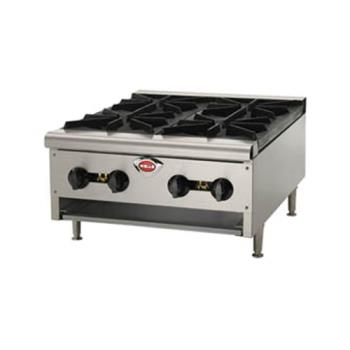 WELHDHP2430G - Wells - HDHP-2430G - Heavy Duty Hot Plate w/ 4 Burners Product Image