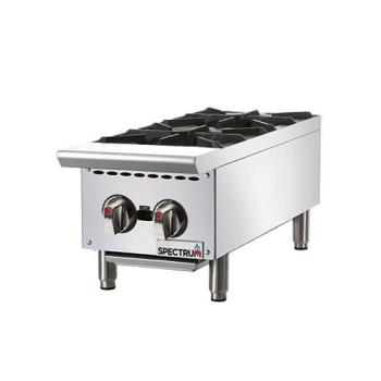 WINNGHP2 - Winco - NGHP-2 - 2 Burner Spectrum Gas Hot Plate Product Image