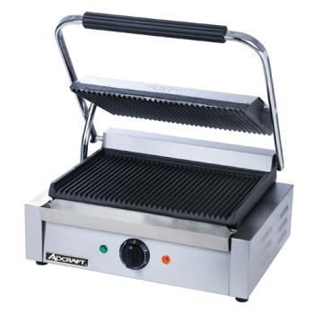95317 - Adcraft - SG-811E - 13 in Grooved Sandwich Grill Product Image