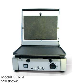 EURCORTL220 - Eurodib - CORT-L 220 - Sirman Medium 220V Panini Grill w/Smooth & Ribbed Plates Product Image