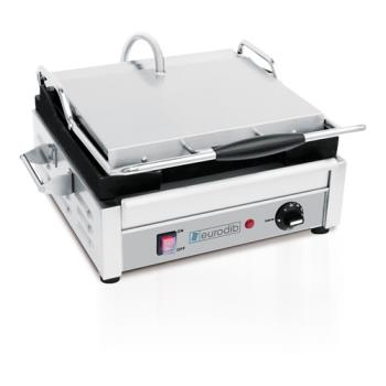 EURSFE02340240 - Eurodib - SFE02340-240 - 240V Single Panini Grill w/Smooth Plates Product Image