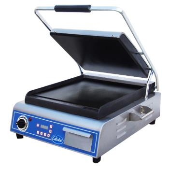 GLOGSG14D - Globe - GSG14D - Single Panini Grill with Smooth Plates Product Image
