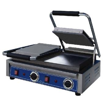GLOGSGDUE10 - Globe - GSGDUE10 - Double Bistro Panini Grill with Smooth Plates Product Image