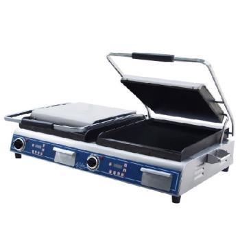 GLOGSGDUE14D - Globe - GSGDUE14D - Double Panini Grill with Smooth Plates Product Image
