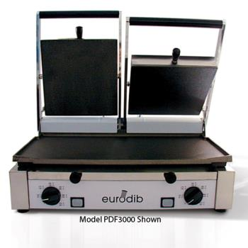 EURPDR3000 - Sirman - PDR3000 - Sirman Double Panini Grill w/Ribbed Plates Product Image