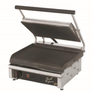 STAGX14IG - Star Manufacturing - GX14IG - 14 in 120V Grill Express™ Grooved Sandwich Grill Product Image