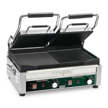 WARWDG300 - Waring - WDG300 - Double Panini Grill w/ Half Ribbed Plate Product Image