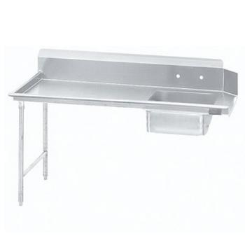 ADVDTSS6072LX - Advance Tabco - DTS-S60-72L-X - 71 in x 30 in Left-to-Right Soiled Dishtable Product Image