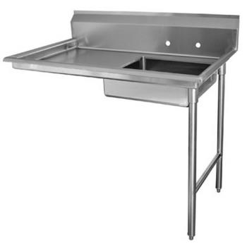 ADVDTUU6048RX - Advance Tabco - DTU-U60-48R-X - 48 in x 30 in Undercounter Dishtable w/ Right Sink Product Image
