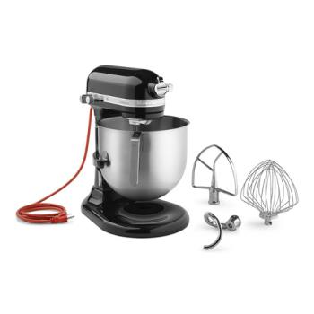 65498 - KitchenAid Commercial - KSM8990OB - 8 qt Onyx Black Commercial Stand Mixer Product Image