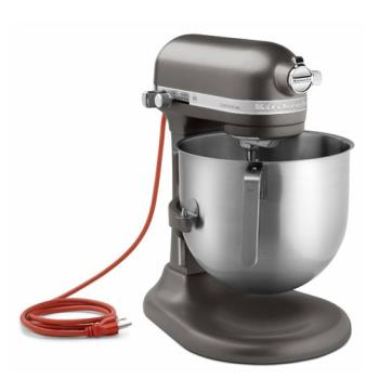 59374 - KitchenAid Commercial - KSM8990DP - 8 qt Dark Pewter Commercial Stand Mixer Product Image