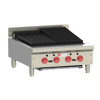 WLFACB25 - Wolf - ACB25 - 25 in Countertop Charbroiler w/ 4 Burners Product Image