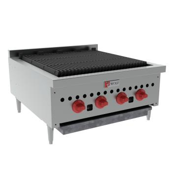 WLFSCB25 - Wolf - SCB25 - 25 in Countertop Charbroiler w/ 4 Burners Product Image