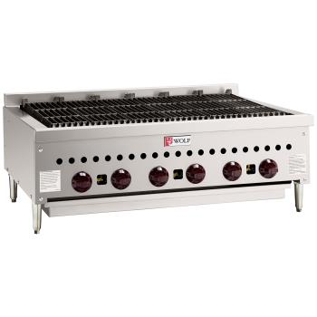 WLFSCB36 - Wolf - SCB36 - 36 in Countertop Charbroiler w/ 6 Burners Product Image