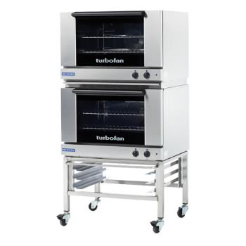 MOFE27M2T2C - Moffat - E27M2-T/2C - 220V Double 2-Full-Pan Convection Oven w/ Casters Product Image